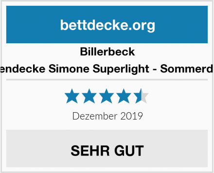 Billerbeck Seidendecke Simone Superlight - Sommerdecke Test
