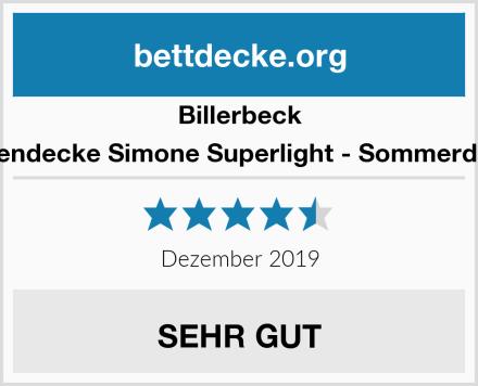 Billerbeck Seidendecke Simone Superlight - Sommerdecke Test