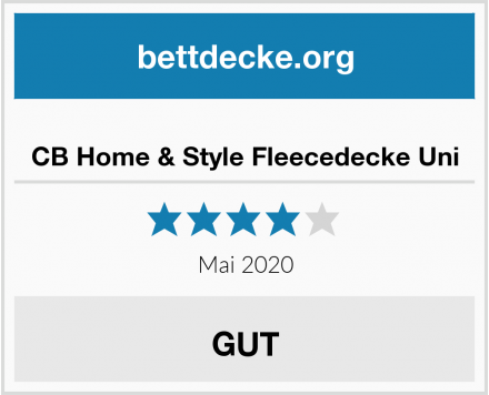 CB Home & Style Fleecedecke Uni Test