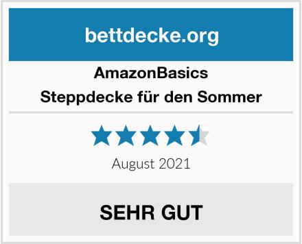 AmazonBasics Steppdecke für den Sommer Test