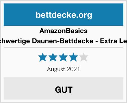 AmazonBasics Hochwertige Daunen-Bettdecke - Extra Leicht Test