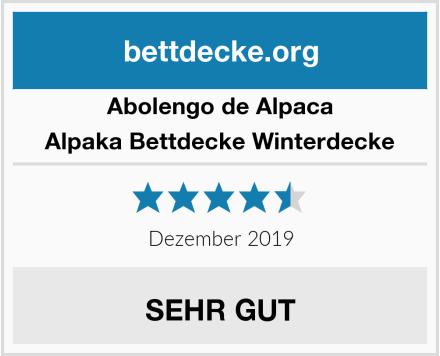 Abolengo de Alpaca Alpaka Bettdecke Winterdecke Test