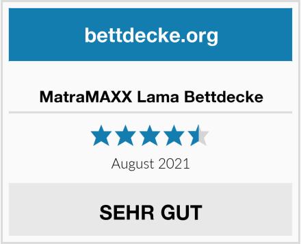MatraMAXX Lama Bettdecke Test