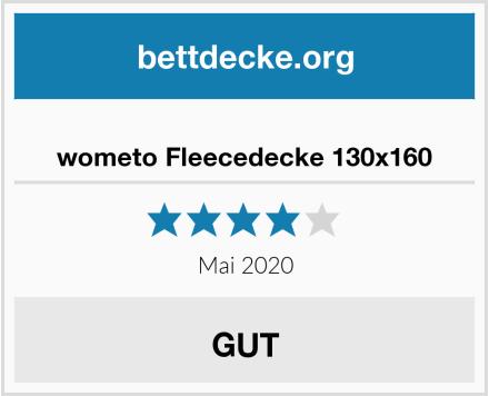 wometo Fleecedecke 130x160 Test