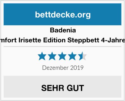 Badenia Bettcomfort Irisette Edition Steppbett 4-Jahreszeiten Test