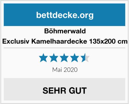 Böhmerwald Exclusiv Kamelhaardecke 135x200 cm Test