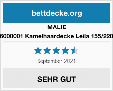 MALIE 2046000001 Kamelhaardecke Leila 155/220 cm Test