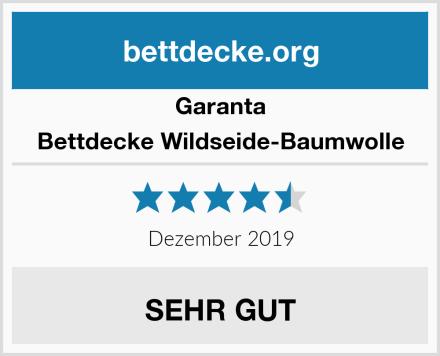 Garanta Bettdecke Wildseide-Baumwolle Test