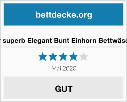 Sticker superb Elegant Bunt Einhorn Bettwäsche Set Test