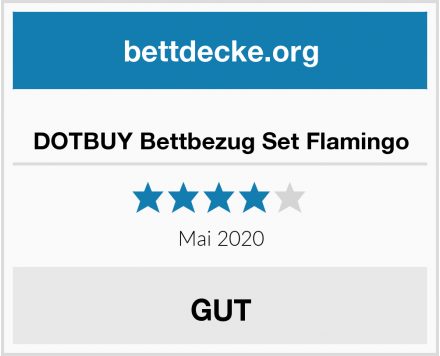 DOTBUY Bettbezug Set Flamingo Test