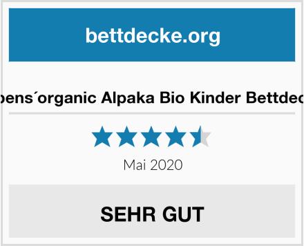 rabens´organic Alpaka Bio Kinder Bettdecke Test