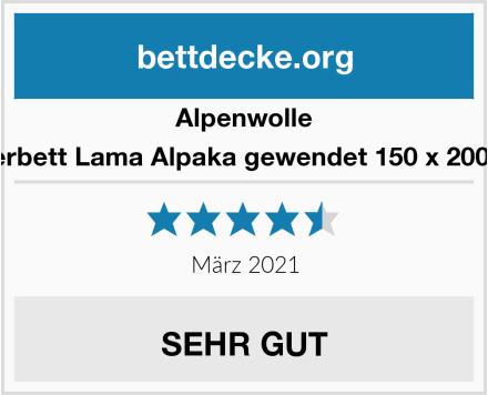Alpenwolle Oberbett Lama Alpaka gewendet 150 x 200 cm Test
