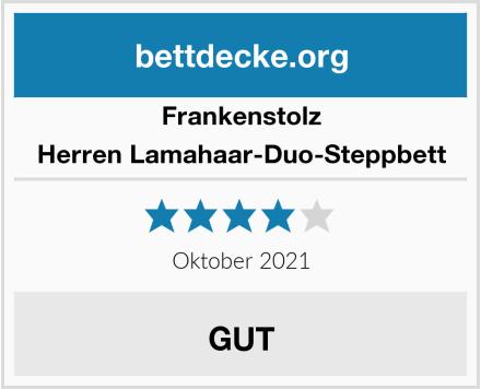 Frankenstolz Herren Lamahaar-Duo-Steppbett Test