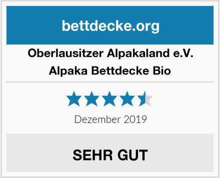 Oberlausitzer Alpakaland e.V. Alpaka Bettdecke Bio Test