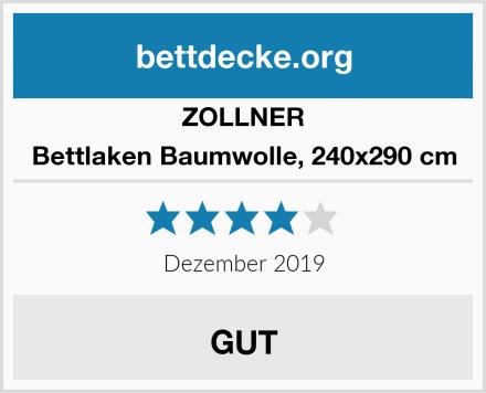 ZOLLNER Bettlaken Baumwolle, 240x290 cm Test