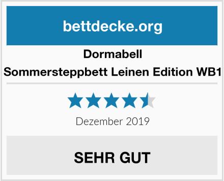 Dormabell Sommersteppbett Leinen Edition WB1 Test