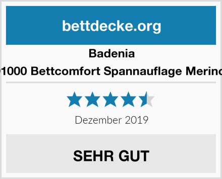 Badenia 03883291000 Bettcomfort Spannauflage Merino Perkal, Test