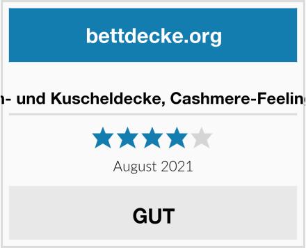 Amago Wohn- und Kuscheldecke, Cashmere-Feeling, Terracotta Test