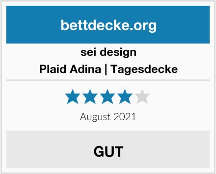 sei design Plaid Adina | Tagesdecke Test