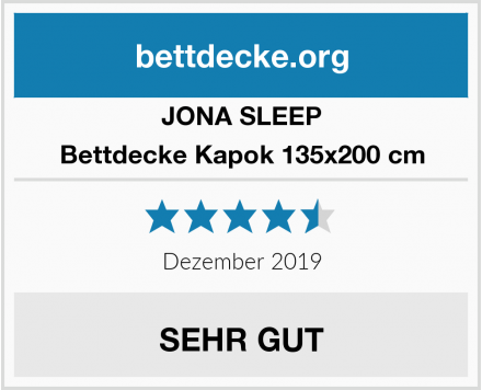 JONA SLEEP Bettdecke Kapok 135x200 cm Test