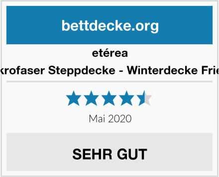etérea Mikrofaser Steppdecke - Winterdecke Frieda Test