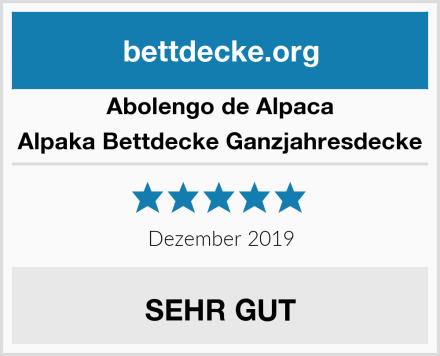 Abolengo de Alpaca Alpaka Bettdecke Ganzjahresdecke Test