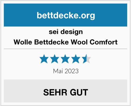 sei design Wolle Bettdecke Wool Comfort Test