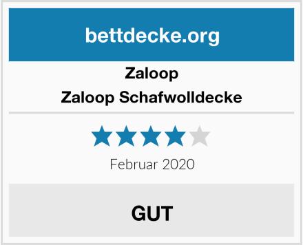 Zaloop Zaloop Schafwolldecke Test