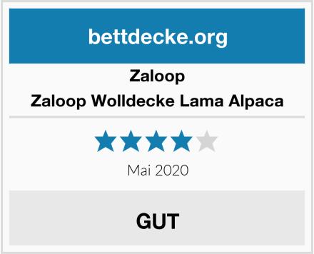 Zaloop Zaloop Wolldecke Lama Alpaca Test