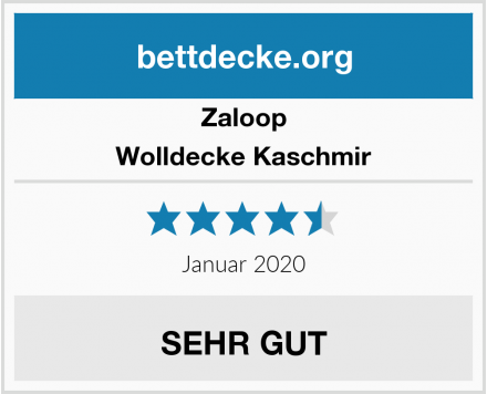 Zaloop Wolldecke Kaschmir Test