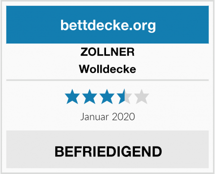 ZOLLNER Wolldecke Test