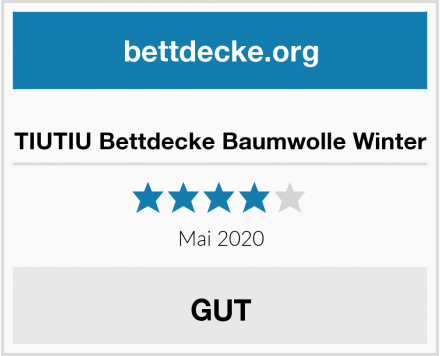 TIUTIU Bettdecke Baumwolle Winter Test