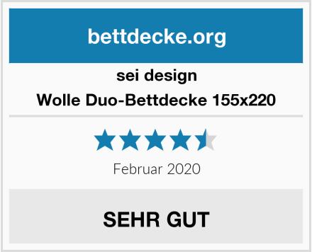 sei design Wolle Duo-Bettdecke 155x220 Test