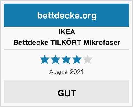 IKEA Bettdecke TILKÖRT Mikrofaser Test