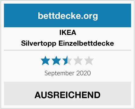 IKEA Silvertopp Einzelbettdecke Test