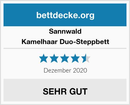 Sannwald Kamelhaar Duo-Steppbett Test