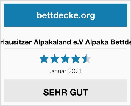 Oberlausitzer Alpakaland e.V Alpaka Bettdecke Test