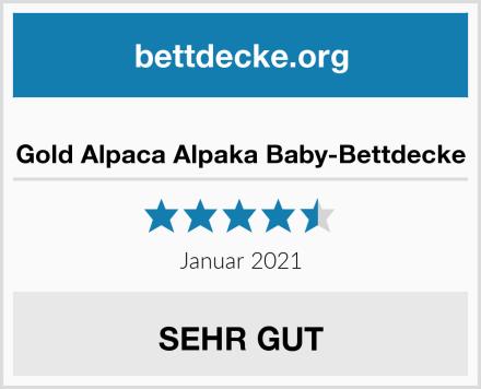 Gold Alpaca Alpaka Baby-Bettdecke Test