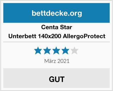 Centa Star Unterbett 140x200 AllergoProtect Test