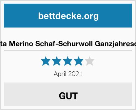 Meivita Merino Schaf-Schurwoll Ganzjahresdecke Test