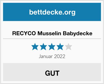 RECYCO Musselin Babydecke Test