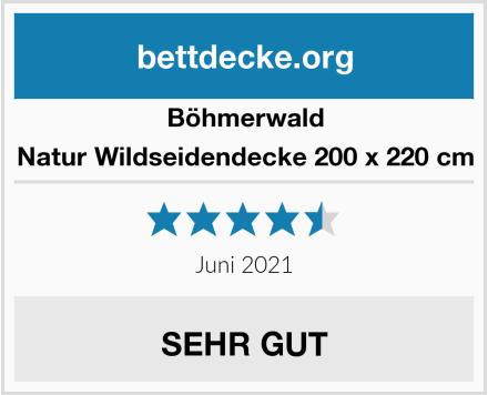 Böhmerwald Natur Wildseidendecke 200 x 220 cm Test