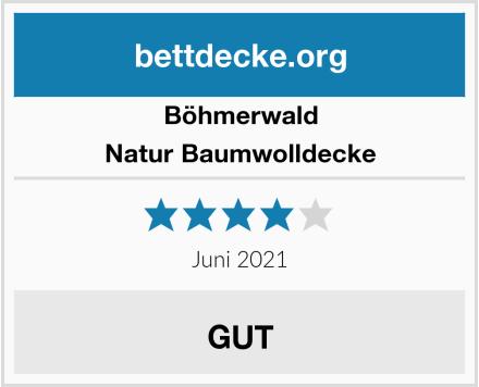 Böhmerwald Natur Baumwolldecke Test