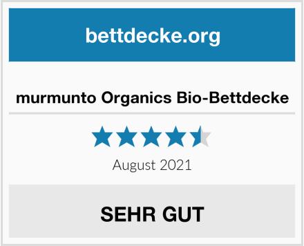 murmunto Organics Bio-Bettdecke Test