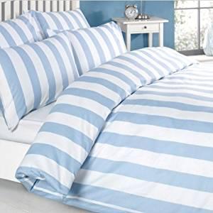 Blaue Bettdecken