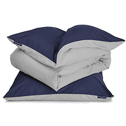 sleepwise Soft Wonder-Edition Bettwäsche (Blue Ocean/Light Grey, 135 x 200 cm)