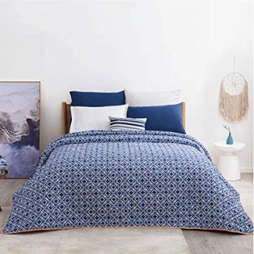 Bedsure Tagesdecke Schlafzimmer blau
