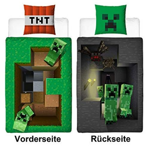 Familando Wende Bettwäsche-Set Minecraft