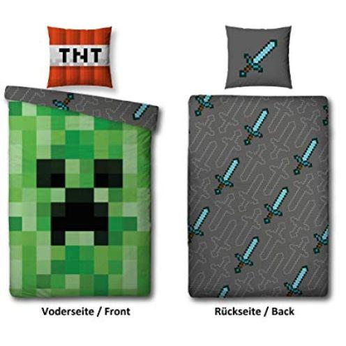 Familando Wende Bettwäsche-Set Minecraft