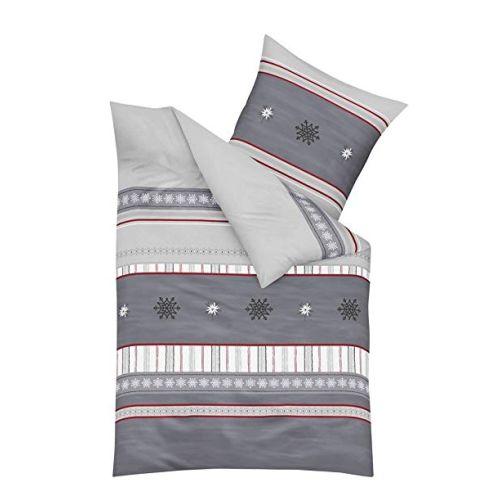 Kaeppel Biber Bettwäsche Edelweiß grau